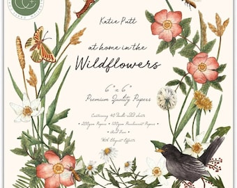 6 x 6 Paper Pad ~  At Home in the Wildflowers  ~ Double sided  - NEW (#3979)