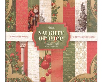 6.5 x 6.5 Paper Pad ~   Naughty or Nice   ~ Double sided ~ NEW (#4137)