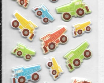 Momenta --  Mini Puffy Truck stickers -- NEW --  dimensional stickers  (#2438)
