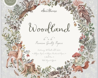 6 x 6 Paper Pad ~ Woodland ~ Double sided  - NEW (#4158)