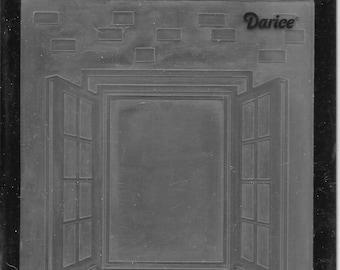 Darice Embossing Folder -- New -- Window Shutter -- (#3047)