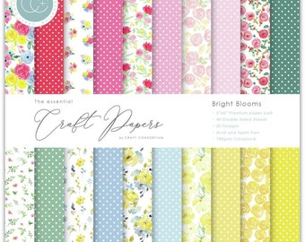 6 x 6 Paper Pad ~  Bright Blooms  --   Double sided  - NEW (#4074)