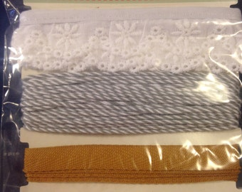 October Afternoon   --  Farmhouse Wrap Pack --   Custom trims set  --  3 piece  Set      --  NEW   --   (#843)