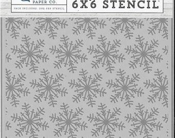Echo Park Designer Stencil -- New -- Winter snowflakes  -- (#3351)