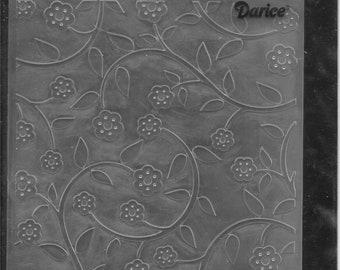 Darice Embossing Folder -- New -- Floral Vines -- (#3043)