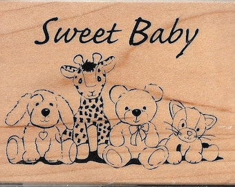 Sweet Baby Stamp --   NEW  -- Wood Mounted Rubber Stamp --  Inkadinkado --   (#2967)
