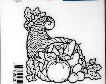 Deep Red Cling Stamps -- Horn Of Plenty  -- NEW -- (#2529)