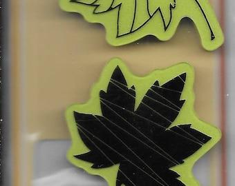 Leaves Stamp set -- NEW -- Leaves -- Inkadinkado Brand -- (#2574)
