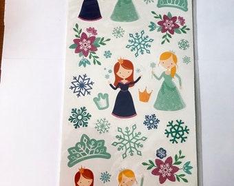 Glittered Stickers  - NEW (#2993) -  Winter Princesses