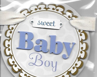 Me & My Big Ideas Brand -- Dimensional Embellishments  -- Sweet Baby Boy  --  NEW  (#1542)
