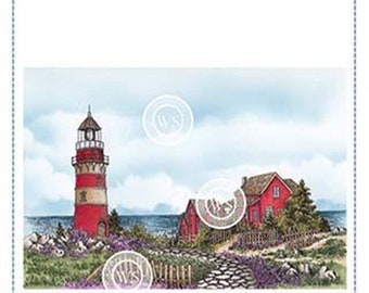Whimsy Stamps -- Beach Lighthouse  -- NEW -- (#3207)