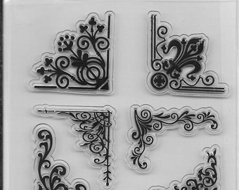 Clear Stamp Set -- NEW -- Floral Corners -- (#3190)
