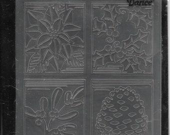 Darice Embossing Folder -- New -- Christmas Square -- (#3045)