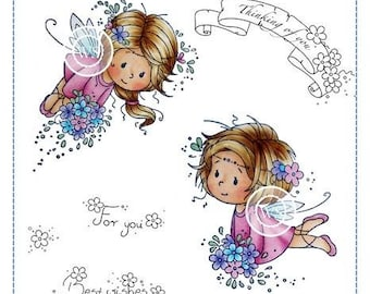 Whimsy Stamps -- Flower Fairies   -- NEW  -- (#2724)