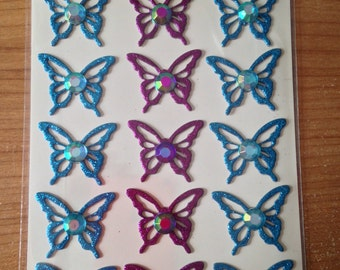 K & Company Grand Adhesions -- Botonical Butterfly Adhesive Chipboard  -- NEW --  dimensional stickers (#1721)