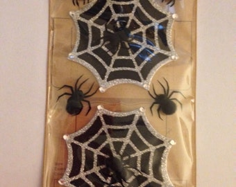 Jolee's Boutique -- Glitter Halloween Spiderweb Stickers -- NEW -- (#1800) Halloween