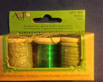 Art Brand   --  Mixed Media Kit  --  Wire & Suede   --   (green)  --  NEW   --   (#971)