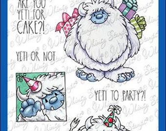 Whimsy Stamps --   Yeti to Party    -- NEW  -- (#4256)