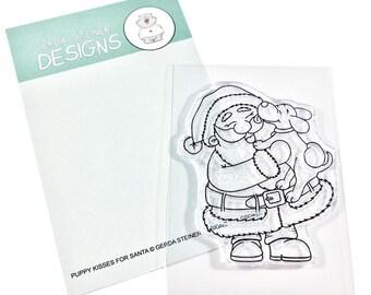 Gerda Steiner Designs --  Puppy Kisses for Santa  -- NEW -- (#3356)