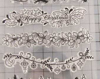 Christmas Stamp Set --  NEW  --   (#3278)  --  Borders