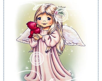 Whimsy Stamps --  Little Christmas Angel -- NEW -- (#2608)