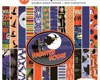 6 x 6 Paper Pad ~ Haunted House ~ Double sided  NEW  (#2554)