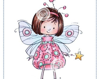 Whimsy Stamps -- Mazarine Butterfly Fairy -- NEW -- (#2750)