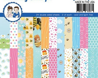 6 x 6 Paper Pad ~  Bizzy Bees    ~ Double sided NEW (#3882)