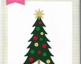 Echo Park - Decorated Christmas Tree Die set   -  NEW  (#3377)