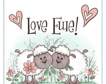 Whimsy Stamps -- Love Ewe Sheep -- NEW -- (#2648)