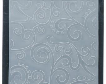 Darice Embossing Folder  --  New  --  Scroll Background  --  (#3910)