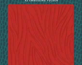 Echo Park Embossing Folder  --  New  -- Zebra  --  (#4080)