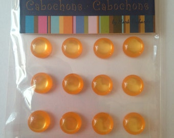 Mark Richards  --  Crystal Cabochons  --  NEW  --  16 pieces --  Orange  --  10 mm  --  (#771)