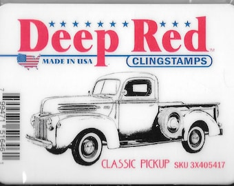 Deep Red Cling Stamps -- Classic Pickup  -- NEW -- (#2426)