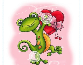 Whimsy Stamps -- Gecko Love -- NEW -- (#2650)