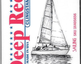 Deep Red Cling Stamps --  Sailing  -- NEW -- (#2740)