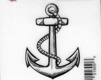Deep Red Cling Stamps --  Anchor   -- NEW -- (#3238)