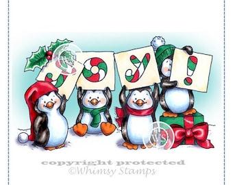 Whimsy Stamps -- Penguin Joy -- NEW  -- (#2210)