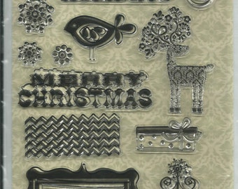 Fancy Pants Designs  Clear Stamp Set --  NEW  --  Home For Christmas  --      (#611)