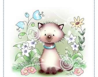 Whimsy Stamps -- Kitty in the Garden - NEW -- (#2701)