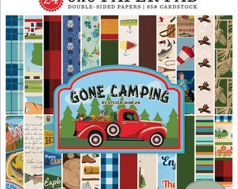 6 x 6 Paper Pad ~ Gone Camping ~ Double sided NEW (#2760)