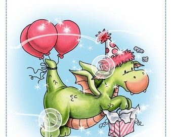 Whimsy Stamps --  Dragon Party -- NEW -- (#2298)