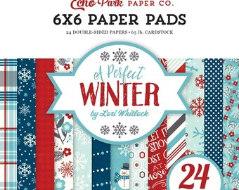 6 x 6 Paper Pad ~ A Perfect Winter ~ Double sided  NEW  (#2566)
