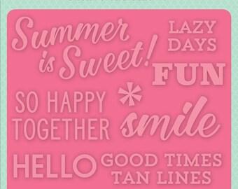 Echo Park Embossing Folder  --  New  -- Summer is Sweet  --  (#4077)