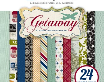 6 x 6 Paper Pad ~ Getaway ~ Double sided  NEW  (#2557)