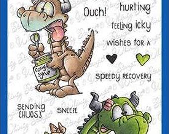 Whimsy Stamps --  Get Well Dragons     -- NEW  -- (#3617)