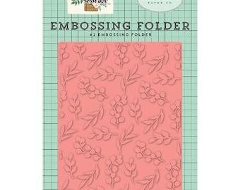 Carta Bella Embossing Folder  --  New  -- Bloom & Grow --  (#4088)