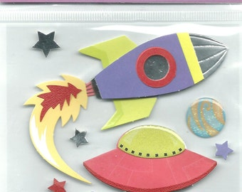 Mark Richards Brand  --   Dimensional Stickers  --  Space  --  NEW  (#1221)