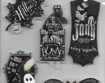 Jolee's -- Chalkboard Words -- dimensional stickers -- NEW (#2535) Halloween