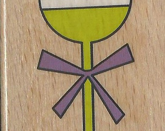 Baby Rattle Stamp --   NEW  -- Wood Mounted Rubber Stamp --  Studio G Brand --   (#1143)
